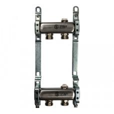 STOUT Коллектор из нержавеющей стали для радиаторной разводки 2 вых.