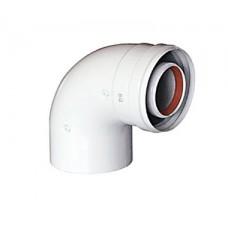 Baxi KHG (New) Отвод DN 60/100, коаксиальный 90 (трубопровод), без муфты