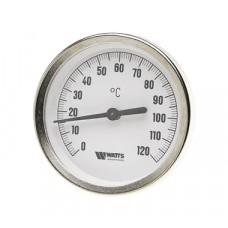 Watts F+R801(T) 80/50 Термометр биметаллический с погружной гильзой 80 мм, штуцер 50 мм.