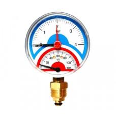 "Watts F+R818 Термоманометр аксиальный 6х1/2"" DN 80 (0-6 бар)"