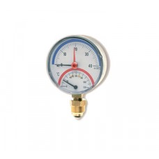 "Watts F+R828 Термоманометр радиальный 10х1/2"" DN 80 (0-10 бар)"