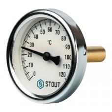 """STOUT Термометр биметаллический с погружной гильзой. Корпус Dn 63 мм, гильза 50 мм 1/2"""""""
