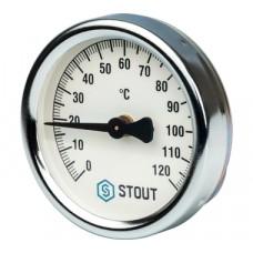 STOUT Термометр биметаллический накладной с пружиной. Корпус Dn 63 мм